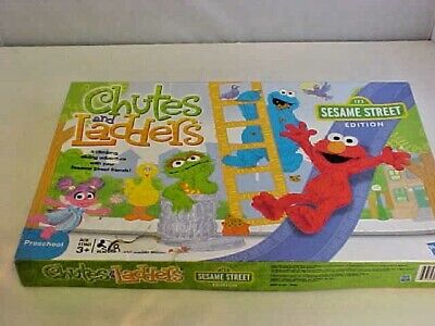 Hasbro Board Game Sesame Street Chutes and Ladders 2-4 Players Made USA 2011  for sale  Knoxville