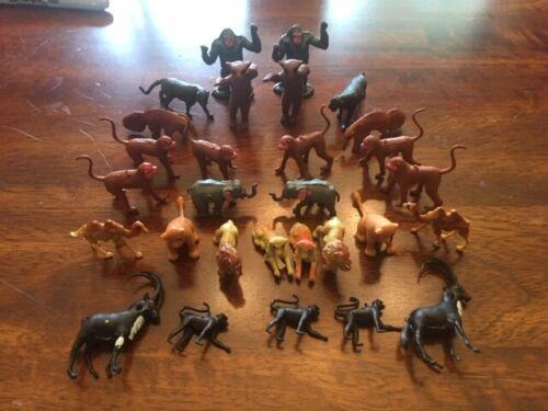 Lot Of Thirty Vintage Plastic African Wildlife Safari Animal Figures