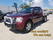 2008 Nissan Navara D40 Series 7 RX Cab Chassis King Cab 4dr Auto 5sp 4x4 2.5DT Maroon Automatic Springwood Logan Area Preview