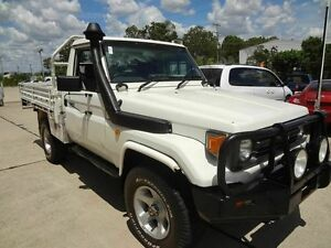 1999 Toyota Landcruiser HZJ79R (4x4) White 5 Speed Manual 4x4 Cab Chassis Wacol Brisbane South West Preview