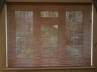 Wooden Pinoleum Roller Blind - natural wood colour