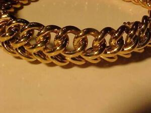 #12000-18k Bracelet-8 long-Secure Lock Closure-111.92 grams Hand made in Peru-(50+yrs ago)-Stunning-Free S/H-tracking