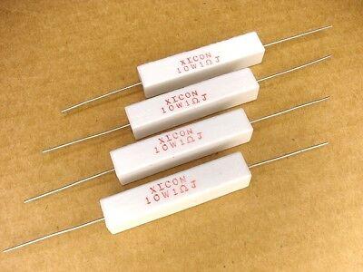 4pcs 1 Ohm 10 Watt 5 Xicon Wire Wound Cement Resistors New