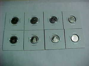 Eight Proof Dimes 1975-1976-1977-1978-1979-1981-1984-1985!!