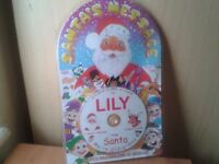 New personalised santa message CD-lily