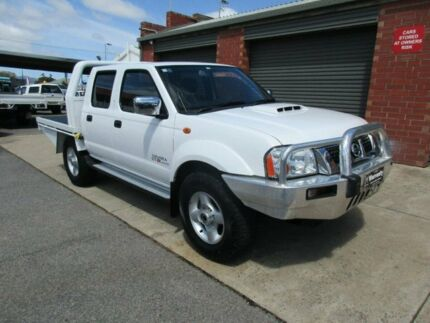 2010 Nissan Navara D22 MY08 ST-R (4x4) White 5 Speed Manual Dual Cab Pick-up