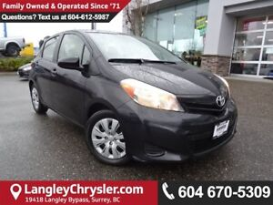2012 Toyota Yaris LE *LOCAL BC CAR* LOW KMS*DEALER INSPECTED*