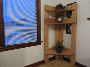 Cedar natural shelving