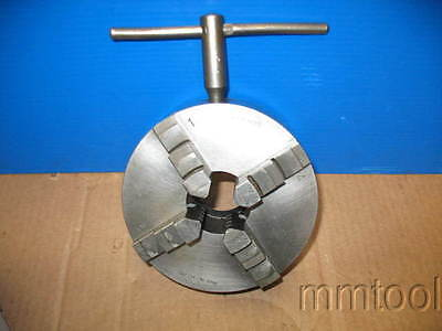 6 Burnerd Self Centering 4 Jaw Chuck Plain Back Very Good Condition