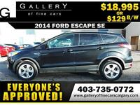 2014 Ford Escape SE $129 Bi-Weekly APPLY NOW DRIVE NOW
