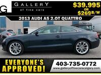 2013 Audi A5 2.0T QUATTRO $269 bi-weekly APPLY NOW DRIVE NOW