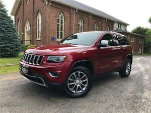 2014 Jeep Grand Cherokee Limited - LEATHER - PANO ROOF - NAV