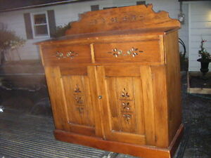 Antique Sideboard, Oak Ice Box and more