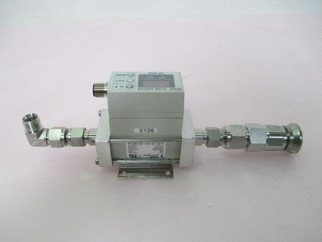 SMC PF2W720-03-27-Q Flow Switch Assy, Water, 2~16L/min, DC12~24V, 423484