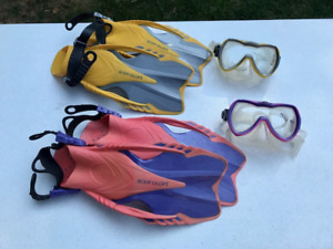 Children's Swim Mask & Flippers (2 sets available)