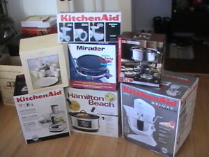 Mixer, Slow Cooker, Food Processor, Grinder, Grill, Dish Set