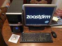 Quad core desktop PC, monitor, Keyboard & Mouse