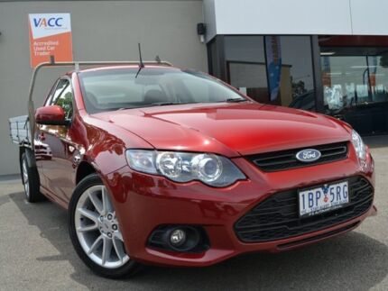 2014 Ford Falcon FG MkII XR6 Super Cab EcoLPi Emperor Red 6 Speed Sports Automatic Cab Chassis Fawkner Moreland Area Preview