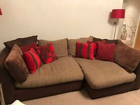 Corner Sofa and hinged foot rest - great condition
