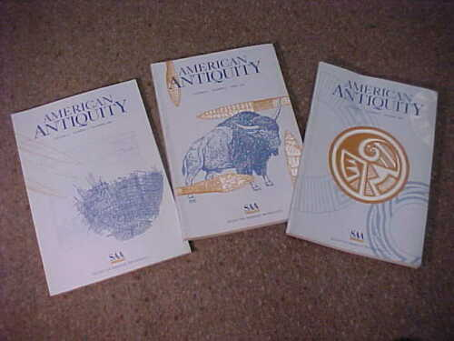 3-Book set of 1996 American Antiquity-Journal Society American Archaeology