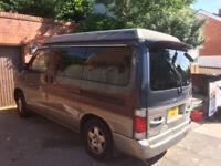 Mazda Bongo Campervan - perfect for summer camping! 88200 miles, 11 months MOT, unleaded/LPG