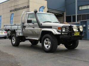 2004 Toyota Landcruiser HDJ79R RV (4x4) Silver 5 Speed Manual 4x4 Cab Chassis Condell Park Bankstown Area Preview