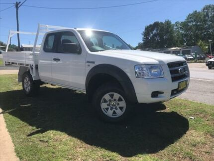 2007 Ford Ranger PJ XL (4x4) White 5 Speed Manual Super Cab Chassis