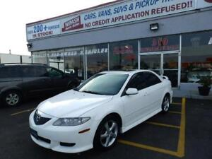 2004 Mazda Mazda6 GT LEATHER ROOF HEATED SEATS CERTIFIED