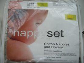 New Bambino Mio Soft REUSABLE NAPPY SET 6 nappies 3 pants size 15-19kg n