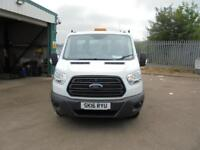Ford Transit T350 MWB S/CAB TIPPER 100PS EURO 5 DIESEL MANUAL WHITE (2016)