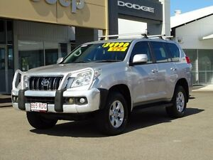 2010 Toyota Landcruiser Prado GRJ150R GXL Silver 5 Speed Sports Automatic Wagon Garbutt Townsville City Preview