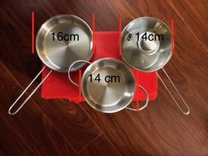 Brand New Fissler Mini set 0.5 L Pots x2 Pan x1 Good for univers