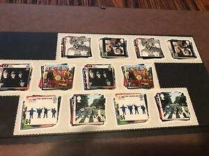 BEATLES STAMPS (12) - TIMBRES POSTALE BEATLES (12)