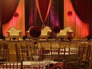 WEDDING LOVESEAT, MANDAP CHAIRS, SWING FOR RENT
