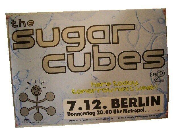 Sugar Cubes Concert Tour Poster Sugarcubes Bjork