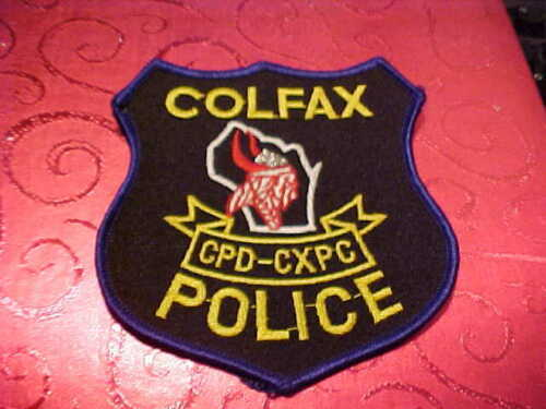 COLFAX WISCONSIN POLICE PATCH SHOULDER SIZE UNUSED