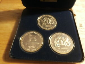 3 pc STERLING. silver proof coin set