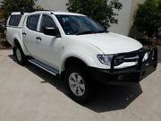 2014 Mitsubishi Triton MN MY15 GLX Double Cab White 4 Speed Sports Automatic Utility Robina Gold Coast South Preview