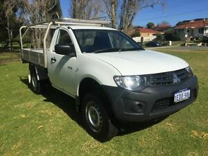 2013 Mitsubishi Triton MN MY13 GL White 5 Speed Manual Cab Chassis Embleton Bayswater Area Preview