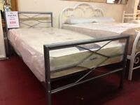 New & Boxed Strong Silver 3ft single bed Only £59 & in stock