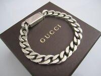 Jewellery - Gucci Bracelet - Sterling Silver (Hallmarked) Genuine Item.
