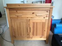 Solid Wood Changing Unit