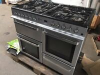 Range Type Gas Cooker, Stainless steel effect, collection from Blaenavon in Gwent