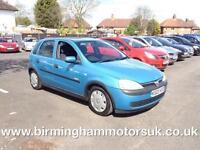 2003 (03 Reg) Vauxhall Corsa 1.4I 16V ELEGANCE AUTOMATIC 5DR Hatchback BLUE + LO