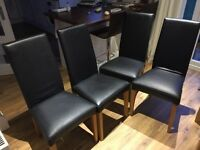 4 faux leather chairs - NEXT