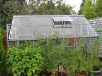 Green House: Glass and Aluminium with Wax Stat. Automatic Window Opener