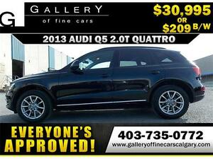 2013 Audi Q5 2.0T Premium AWD $209 bi-weekly APPLY NOW DRIVE NOW