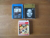 3 x 8 track cartridges tapes Eagles diana ross motown pickwick solid gold