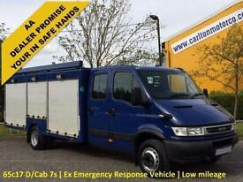 Iveco Daily 65c17 D/cab 7s [ Ex Emergency Response Vehicle ] Low mileage Only31k