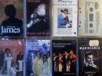 A-Z JAMES, E JOHN, HOWARD KEEL, 4x GLADYS KNIGHT & THE PIPS, MARIO LANZA PRERECORDED CASSETTE TAPES